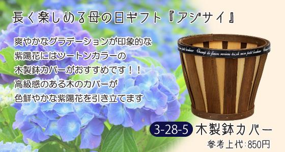 紫陽花 アジサイ 木製 鉢カバー