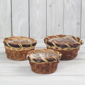 木製丸かご